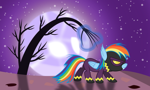 Luna sneaking up on RD sneaking up on somepony by imageconstructor