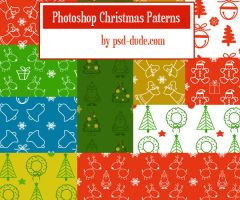 Photoshop Christmas Patterns by PsdDude