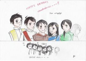 [INDOCHINA] Happy birthday MmmAnchovies~~~ by vn4eyedgirl
