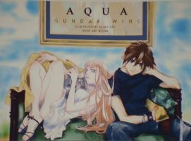 Gundam Wing HXR Aqua Post Card by tamaki-holic