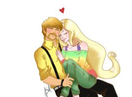 Jake and Lady (Recolored) by MinishCapsLock