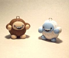 Yeti and Sasquatch Charms by CadmiumCrab