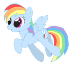 Baby Rainbow dash by Anastasia209