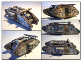 WWI Tank Card Model by Frohickey