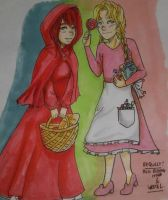 Request- Hillygon- Red and Gretel by RizaJaeger