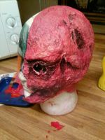Finished Two-Face Prosthetic by kay-sama