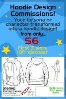 Character to Hoodie Design! only $6! by Turbogunz