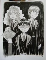Hermione, Harry and Ron by TessFowler