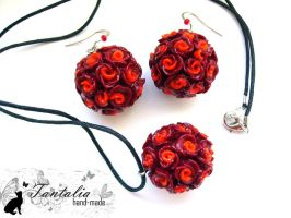 Set 'Red roses' by Tantalia