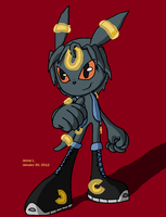 Umbreon, Sonic style by ripjaws-girl21
