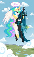 Celestia / Chrysalis Commission by murries