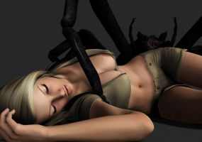 Rachel Fox - Menaced by Giant Spider by Torqual3D