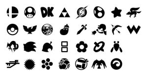 Smash Bros. Logos by TriforceJ