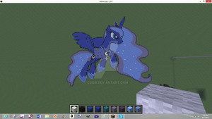 Minecraft~ Princess Luna S2 by C0I0R