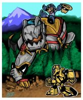 Mega Grimlock Smash by rockmanzallz