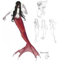 vampire mermaid concept by Lokklyn