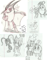 .:Many many doodles 1:. by Papiwolffox640