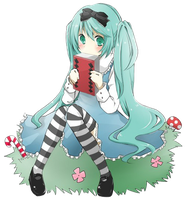 Miku in Wonderland Render by Feary-Bad-Day