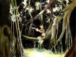 Butterflies in the banyon tree by Katie-O