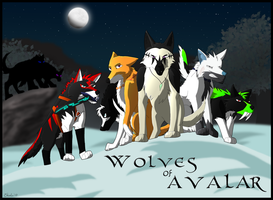 Wolves of Avalar Poster by ShadoWolfozo