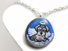 Miniature Schnauzer Pendant Necklace by sobeyondthis