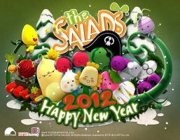 Happy New Year 2012 by thesalads by thaigraff