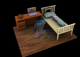 Bedroom 3D by ILICarrieDoll