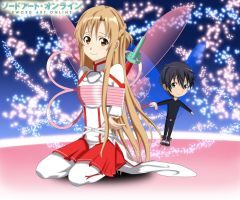 .: Asuna and Chibi Kirito :. by Sincity2100