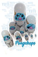 Yeti Monster Matryoshka - Set 1 by ponychops