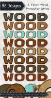 Fancy Wood Photoshop Layer Styles by HGGraphicDesigns