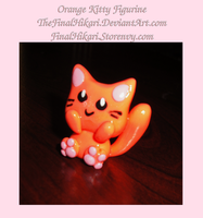Orange Kitty Figurine by RollingTomorrow