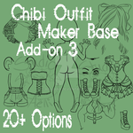 Waitress Chibi Outfit Maker Add-on 3! $4/400 pts by Aelliana