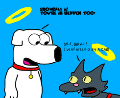 Brian with Snowball II at heaven by SuperMarcosLucky96