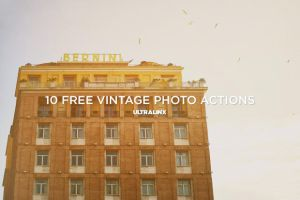 10 Amazing Free Vintage Photography Actions From by frozencolor