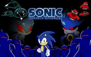 Sonic Dark Chaos Wallpaper by TheWax