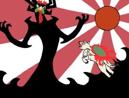 Ammy VS Aku by TheTitan99