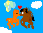 Para: Kiss in the Air by Lizlovestoons12