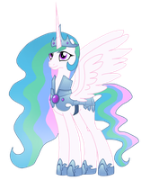 Crystal Pony Attire - Celestia by WolfsKnight