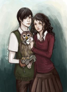 TN and HG with Owl by Leontopodium