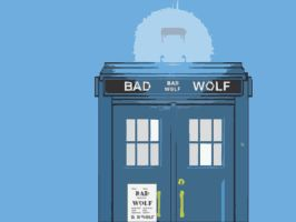 BAD WOLF Wallpaper by Carthoris