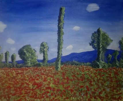 Monet Study - Poppy field in Giverny by CynicalSaint