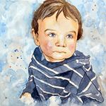 Portrait of a child in blue by jane-beata