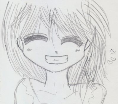 Smiling girl by miquella