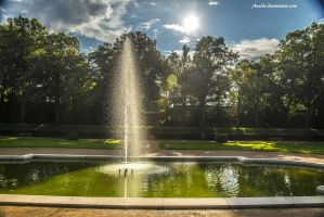 Fountain and Sun by Aneede