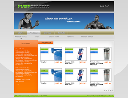 Fitness commerce template by blackp