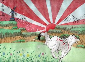 Okami Amaterasu Contest Entry by Snozzberry4947