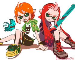 Inkling Luke and Asch by LadyUsada