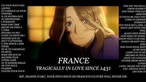 France in love with Jeanne by Sagealina