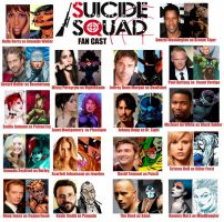 Suicide Squad Fan Cast by ZoKpooL1