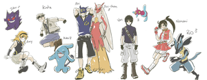 PKMN:: OC Trainers by OCibiSuke